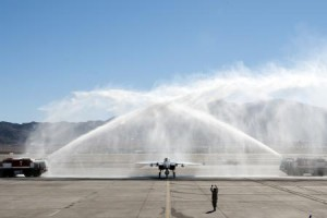 Yeager & F-15 get a bath