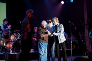 Chuck Yeager & Oak Ridge Boys celebrate. His 90th, their 40th.